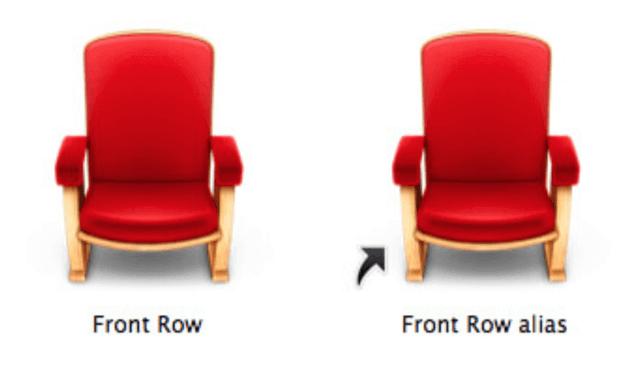 Come eliminare freccina nei collegamenti Mac