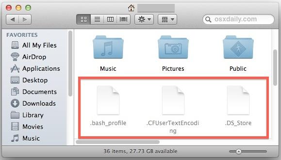 Visualizzare files e cartelle nascoste su Mac