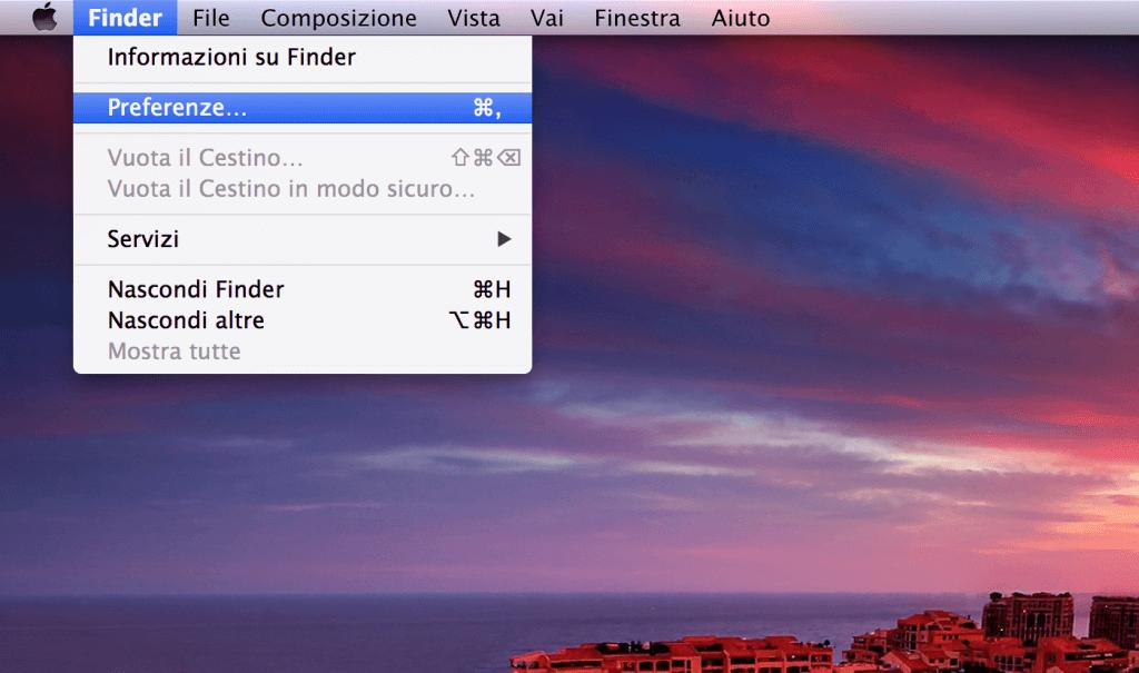 Finder come cambiare contenuto apertura nuova finestra - Er finestra mac ...