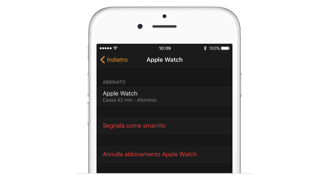 Annullare abbinamento tra Apple Watch e iPhone