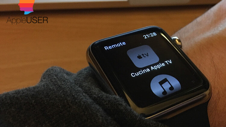 Controllare iTunes e Apple TV con Apple Watch