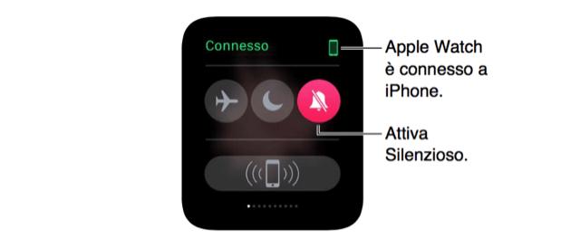 disattivare audio Apple Watch
