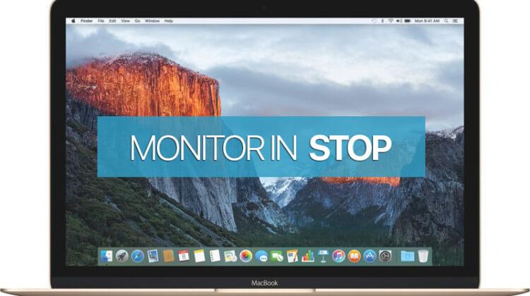 mettere in Stop solo il Monitor su Mac