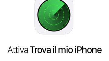 Attivare Trova il mio iPhone