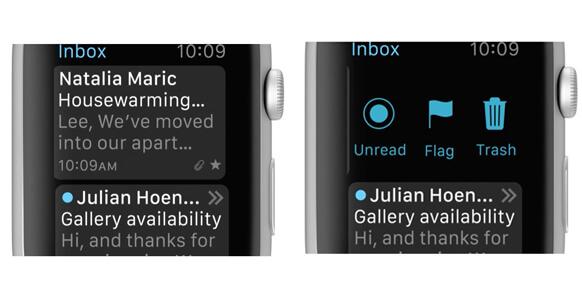 Contrassegnare una mail su Apple Watch