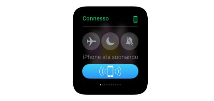 Trovare iPhone con Apple Watch