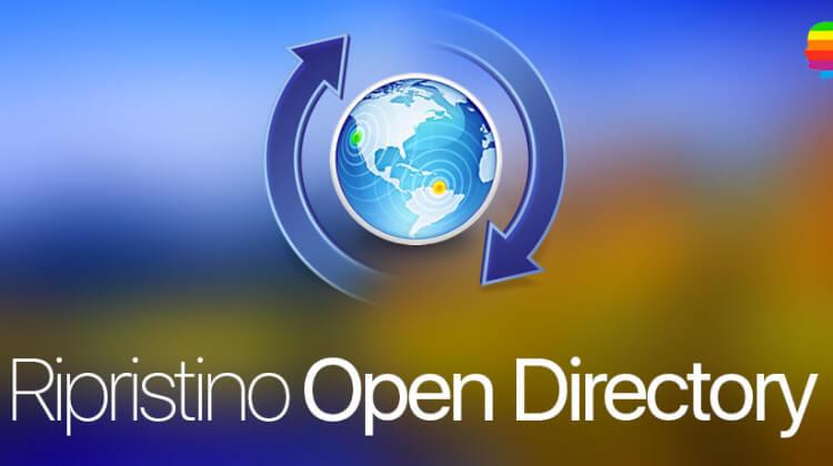 Ripristino dominio Open Directory da backup con OS X Server