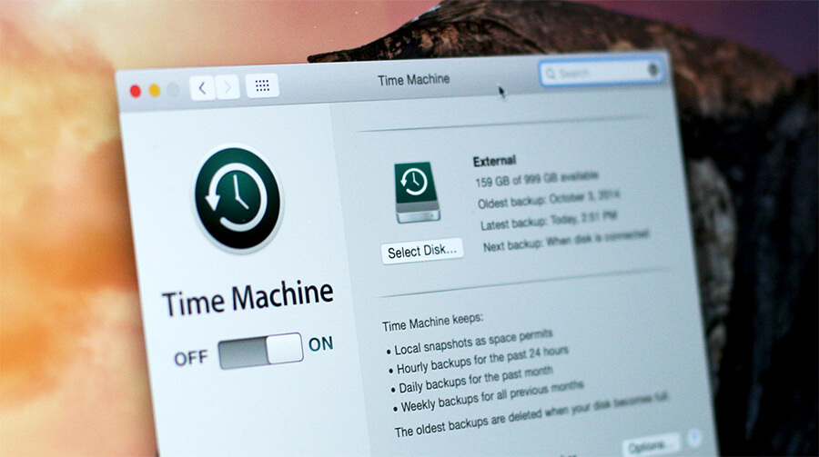 how to reset time machine