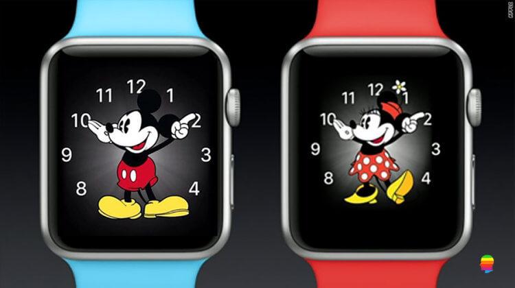 Apple Watch, Topolino e Minnie pronunciano l'ora