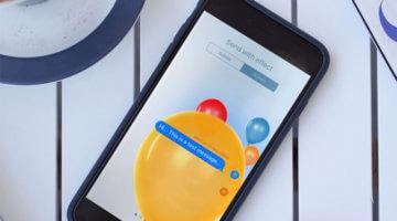 iMessage, inviare messaggi con effetti speciali grafici Bubble