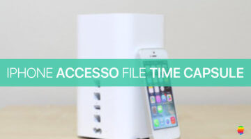 Accedere ai file di Time Capsule o hard disk usb AirPort Extreme da iPhone e iPad