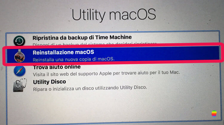 Come reinstallare macOS Sierra 10.12
