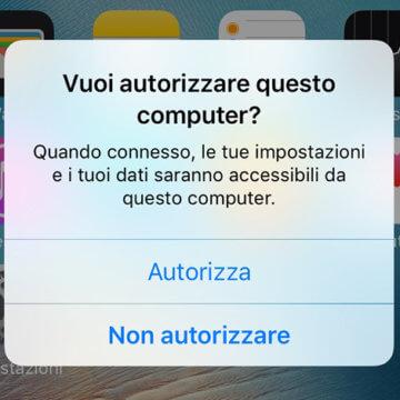 iOS 10, Annullare, modificare Autorizzare questo computer su iPhone e iPad