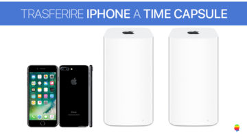Trasferire, salvare Foto e Video da iPhone su Time Capsule