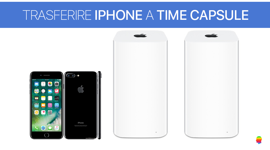 Trasferire, salvare Foto e Video da iPhone su Time Capsule