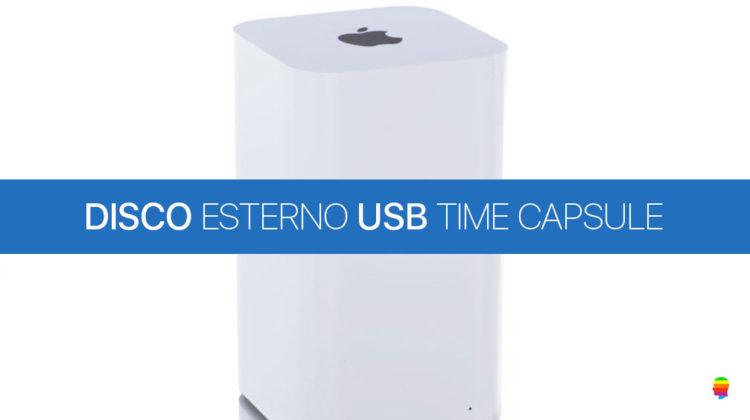 Collegare disco USB esterno alla Time Capsule