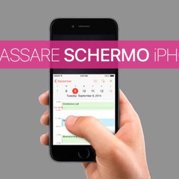 Disattivare abbassa schermo iPhone, utilizzo una sola mano