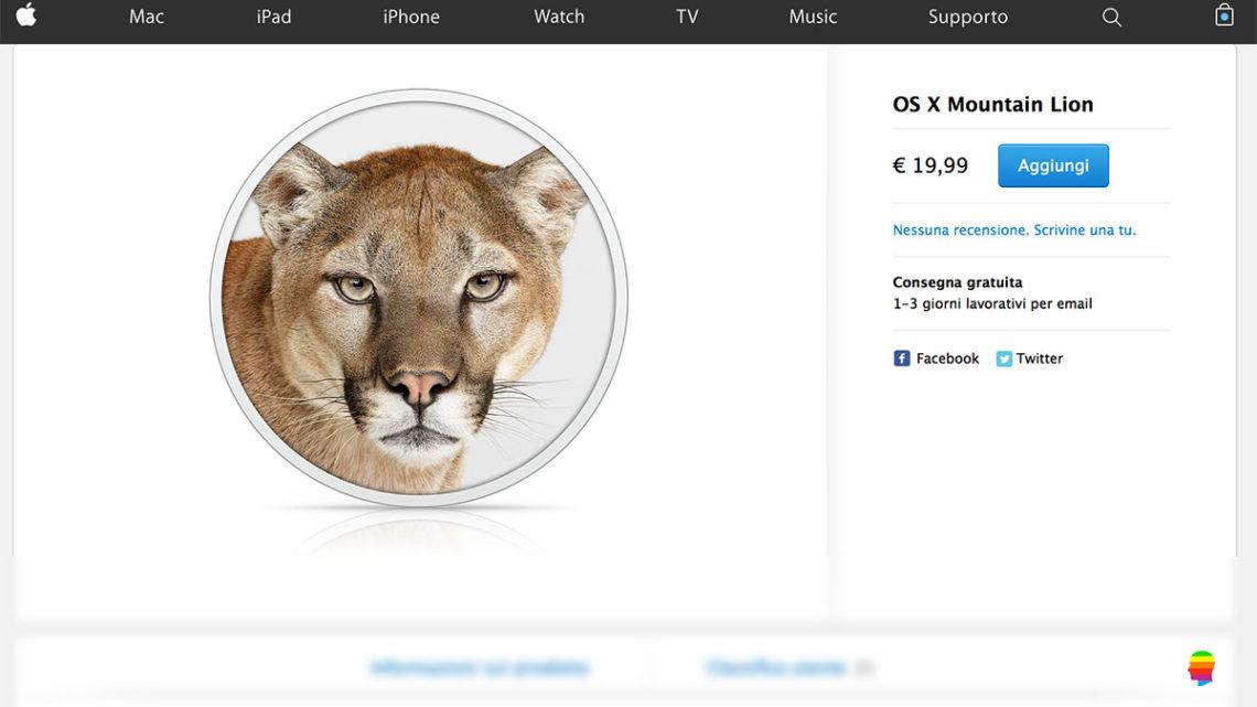 Aggiornare vecchio Mac, acquistare e installare Mountain Lion