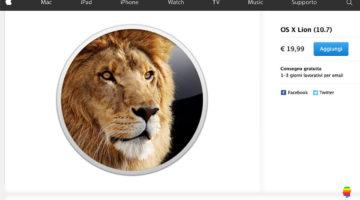 Aggiornare vecchio Mac, acquistare e installare Lion