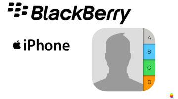 Trasferire dati, contatti da Blackberry ad iPhone