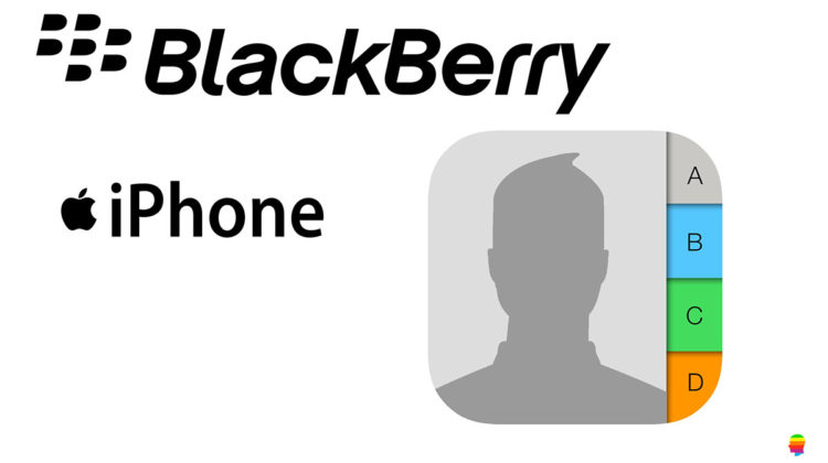 Trasferire dati, contatti da Blackberry ad iPhone