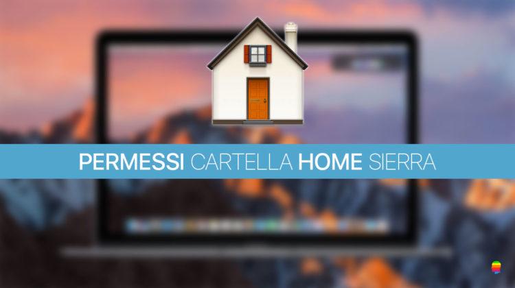 Sierra: Riparare, Reset Permessi cartella Home Inizio