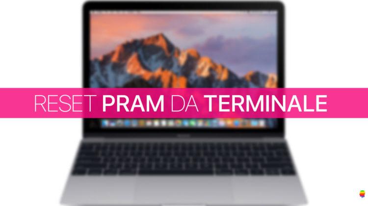 Reset, ripristino PRAM da Terminale su Mac
