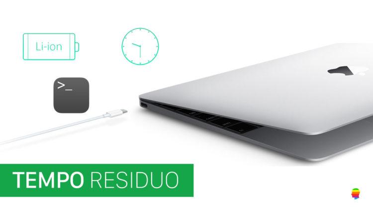Tempo residuo Batteria MacBook da Terminale