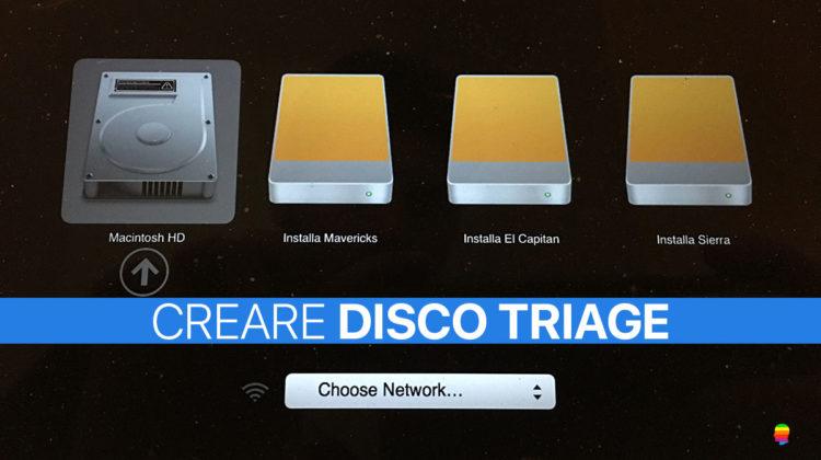 Creare Disco Triage USB per mac OS