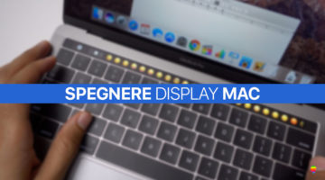 Tasti rapidi per spegnere il display del Mac (MacBook Pro Touch Bar)