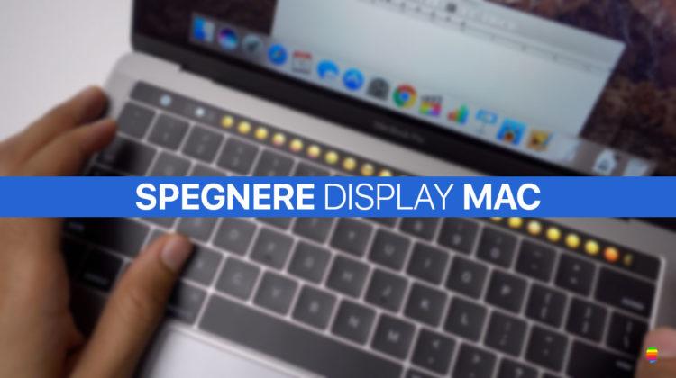 Tasti rapidi per spegnere il display del Mac (MacBook Pro Touch Bar)