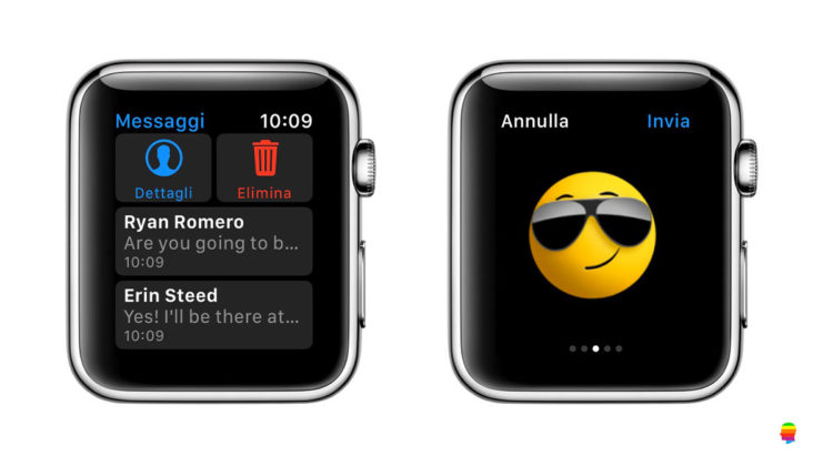 Cancellare messaggi da Apple Watch