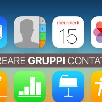 Creare Gruppi Contatti su iPhone e iPad