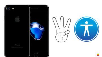 iPhone o iPad schermo nero con VoiceOver attivo