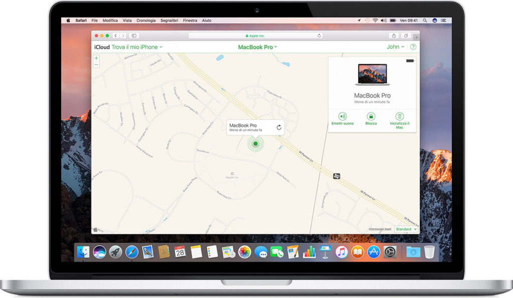 Attivare trova il mio mac su macos for Trova un costruttore locale