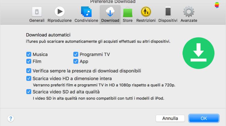 Attivare o Disattivare Download Automatici su Mac OS