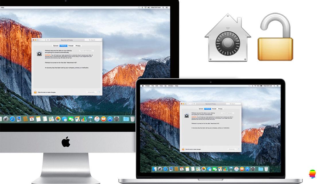 FileVault su mac OS, attivare o disattivare