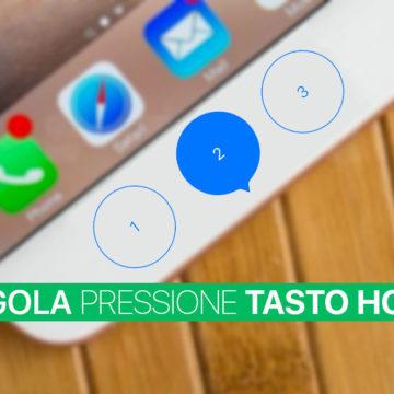 Regolare pressione tasto Home centrale iPhone 7 e 7 Plus