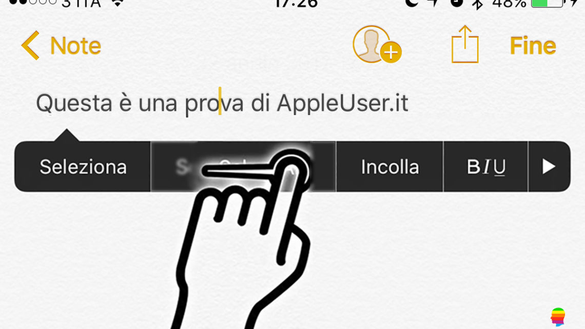 Spostarsi nel menu pop-up iOS di iPhone e iPad