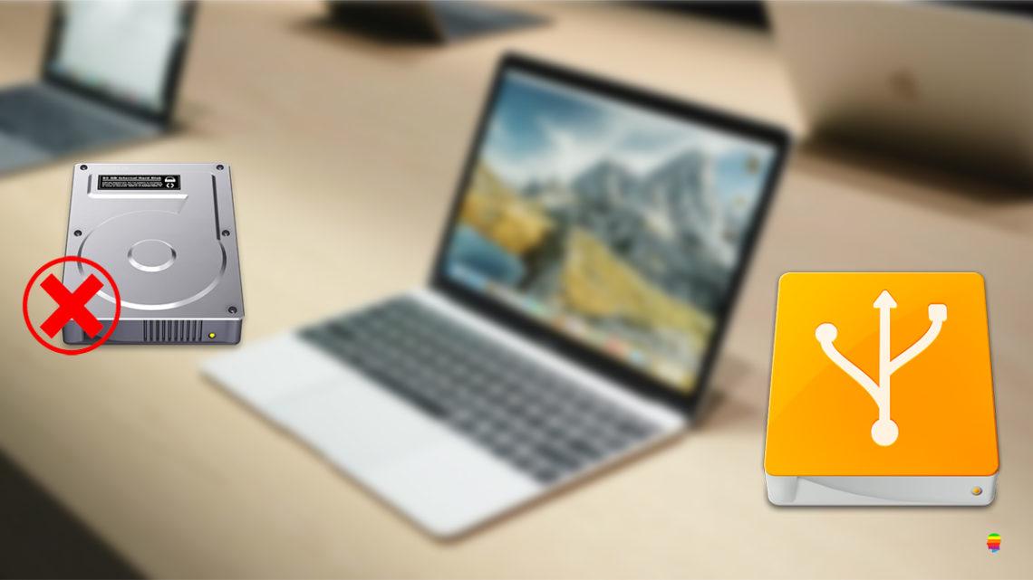 Disattivare, disabilitare disco interno del Mac in avvio