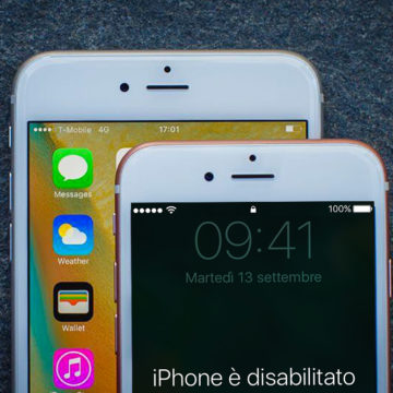 iPhone, iPad disabilitato collega a iTunes