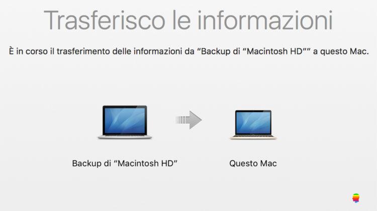 Importare backup di Time Machine su altro Mac