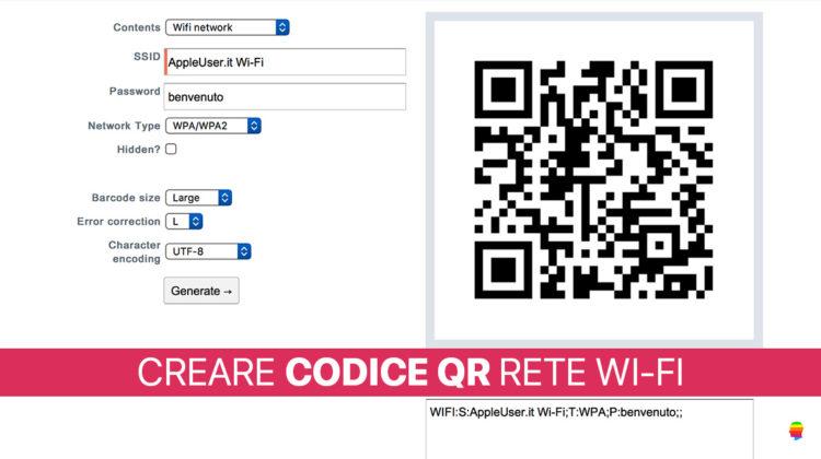 iOS 11, Creare codice QR per accesso rete Wi-Fi da iPhone e iPad