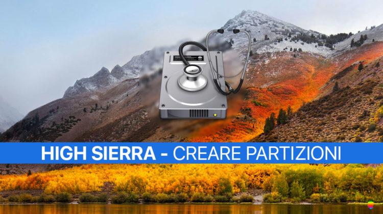 High Sierra, aggiungere partizioni Mac senza perdere dati