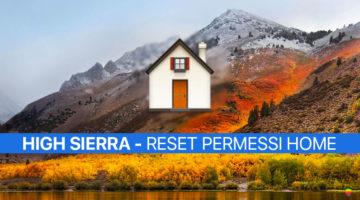 High Sierra: Riparare, Reset Permessi cartella Home Inizio