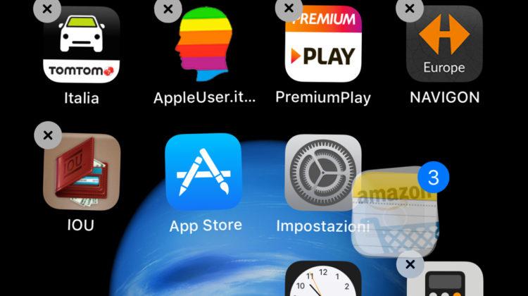 iOS 11, Spostare più App insieme su iPhone e iPad