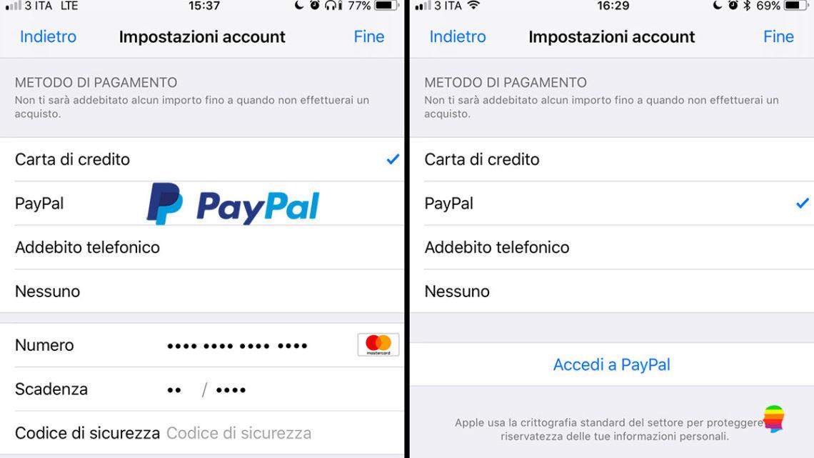 Usare PayPal su App Store con iPhone, iPad e Mac (Musica, App e Libri)
