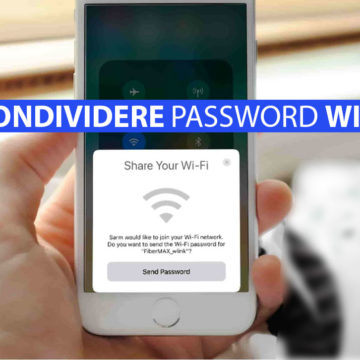 iOS 11, Condividere password connessione Wi-Fi su iPhone e iPad