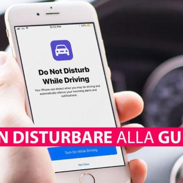Attivare, usare Non Disturbare alla Guida su iPhone