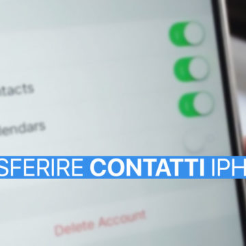 Trasferire contatti da iPhone a Mac o PC Windows con iCloud
